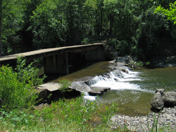 Millville Diversion Dam on Clover Creek