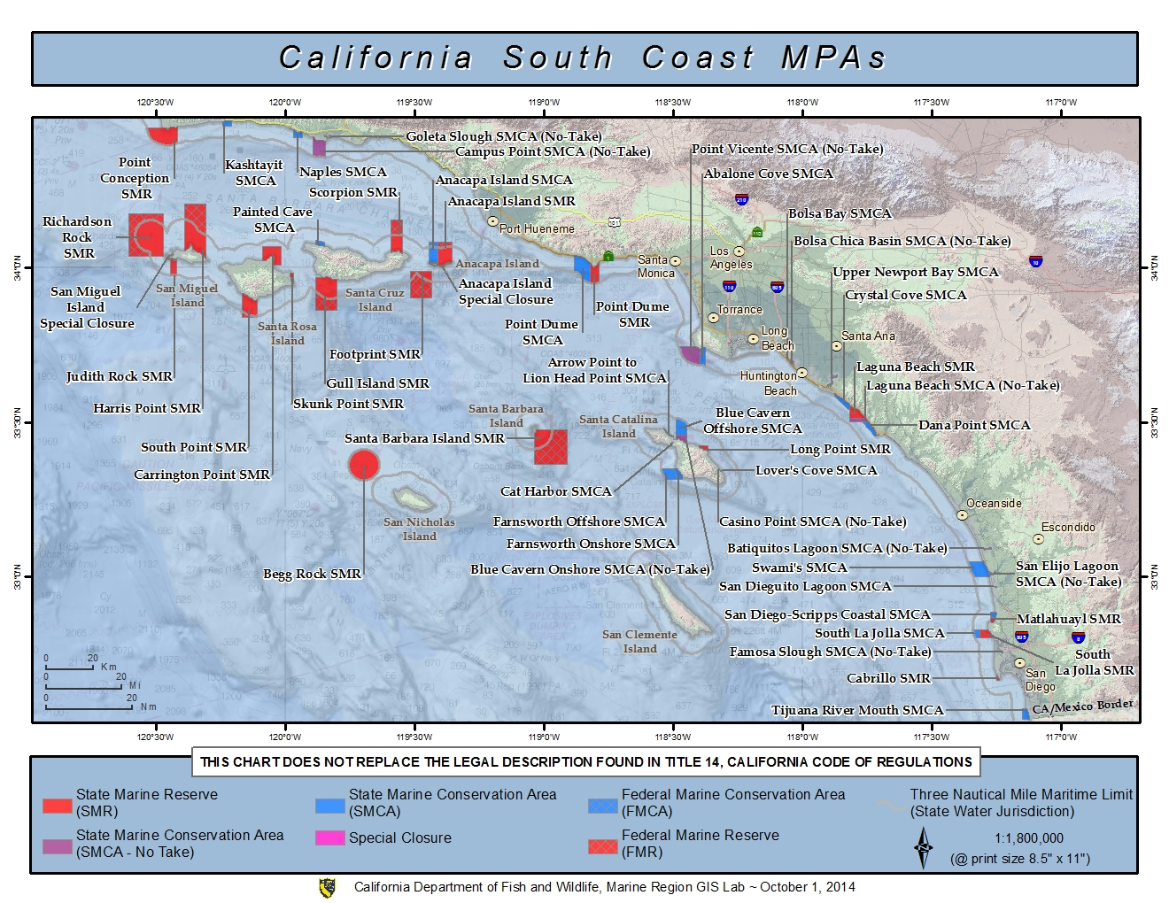 Point conception state marine reserve for Long beach fishing spots
